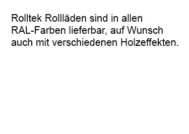 Rollaeden in allen RAL-Farben für  Dresden