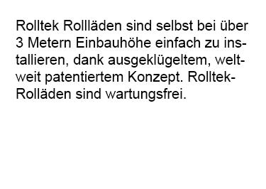 wartungsfreie Rollaeden